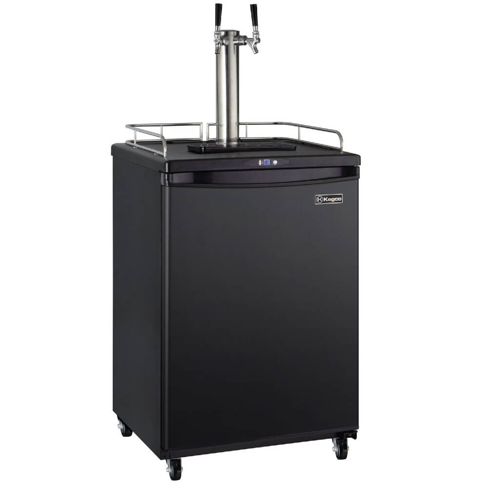 Kegco ICZ163B-2NK Freestanding Black Dual Tap Cold Brew Coffee Commercial/Residential Kegerator