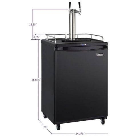 Image of Kegco ICZ163B-2NK Freestanding Black Dual Tap Cold Brew Coffee Commercial/Residential Kegerator