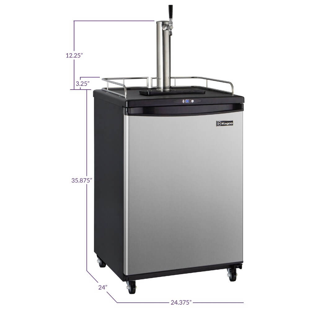 Kegco  ICZ163S-1NK Freestanding Stainless Steel Single Tap Cold Brew Coffee Commercial/Residential Kegerator