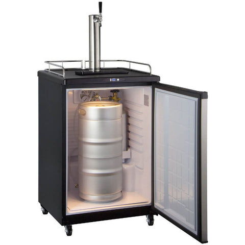 Image of Kegco  ICZ163S-1NK Freestanding Stainless Steel Single Tap Cold Brew Coffee Commercial/Residential Kegerator