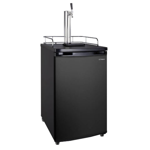 Image of Kegco K199B-1NK Freestanding Indoor Black Single Tap Home Kegerator