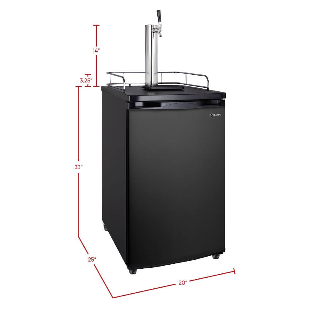Kegco K199B-1NK Freestanding Indoor Black Single Tap Home Kegerator