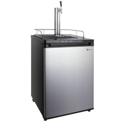 Image of Kegco K309SS-1NK Freestanding Stainless Steel Single Tap Indoor Home Kegerator