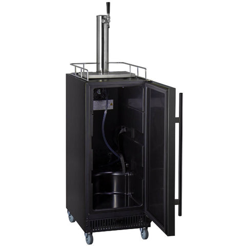 Kegco KOM15BBRNK Freestanding Black Single Tap Kombucha Commercial Kegerator