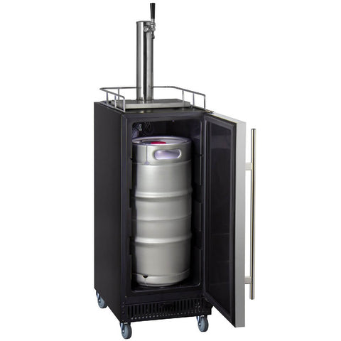 Kegco KOM15BSRNK Freestanding Stainless Steel Single Tap Kombucha Commercial Kegerator