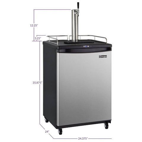 Kegco KOM163S-1NK Single Tap Kombucha Stainless Steel Commercial/Residential Digital Kegerator