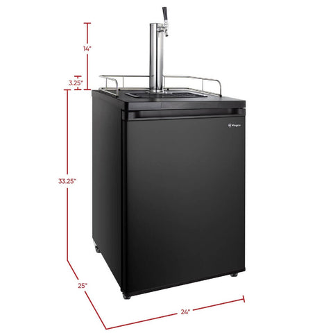 Kegco KOM20B-1NK Built - In Outdoor Black Single Tap Kombucha Commercial Kegerator