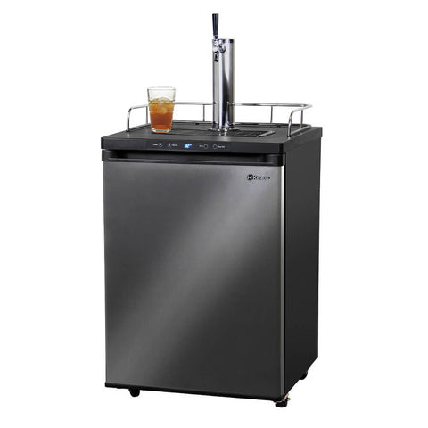 Kegco KOM30X-1NK Freestanding Black Stainless Steel Single Tap Kombucha Kegerator