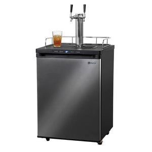 Kegco KOM30X-2NK Built - In Outdoor Black Stainless Steel Dual Tap Digital Kombucha Kegerator