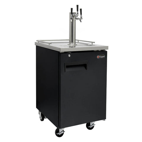Image of Kegco KOMC1B-3 Triple Tap Black Kombucha Commercial Kegerators