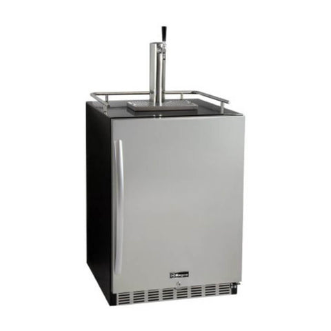 Image of Kegco Single Tap  Stainless Steel Built-In Right Hinge Commercial Kombucha Kegerators