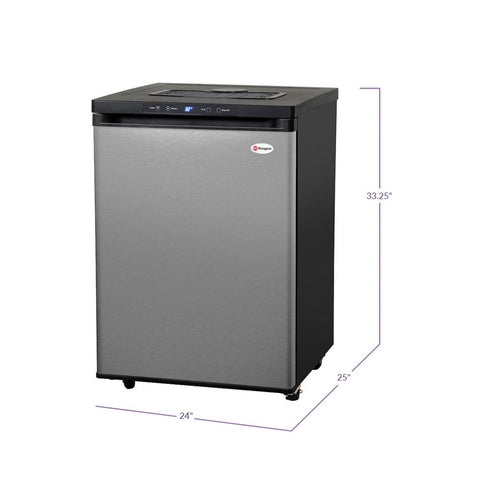 Image of Kegco MDK-309SS-01 Stainless Steel Freestanding Digital Home Kegerator - No Tap Kit
