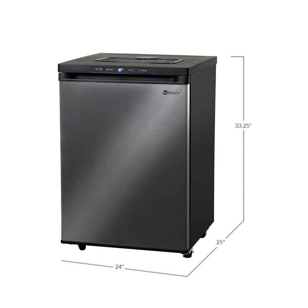 Kegco MDK-309X-01 Stainless Steel Freestanding Digital Home Kegerator - No Tap Kit