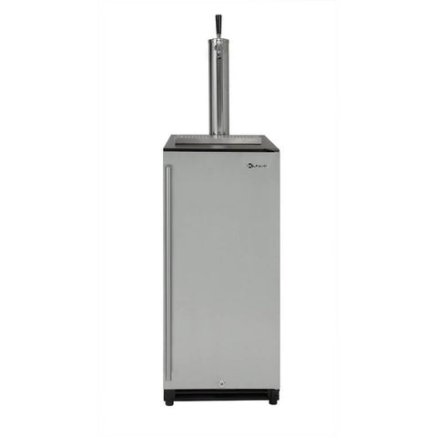 Image of Kegco VSK-15SR20 Single Tap Stainless Steel Black Right Hinge Kegerator