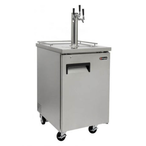 Image of Kegco XCK-1S-3 Triple Tap Stainless Steel Commercial Kegerators