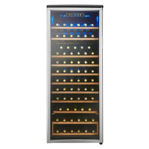 Danby Designer 75-Bottle Freestanding Single Zone Platinum/Black Wine Cooler (DWC106A1BPDD)