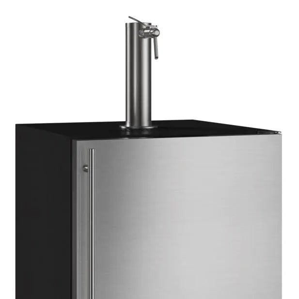 Marvel 24 Inch Outdoor Mobile Beer Dispenser Kegerator, Stainless Steel Door with Lock, Reversible Hinge(MOKR224SS31A)