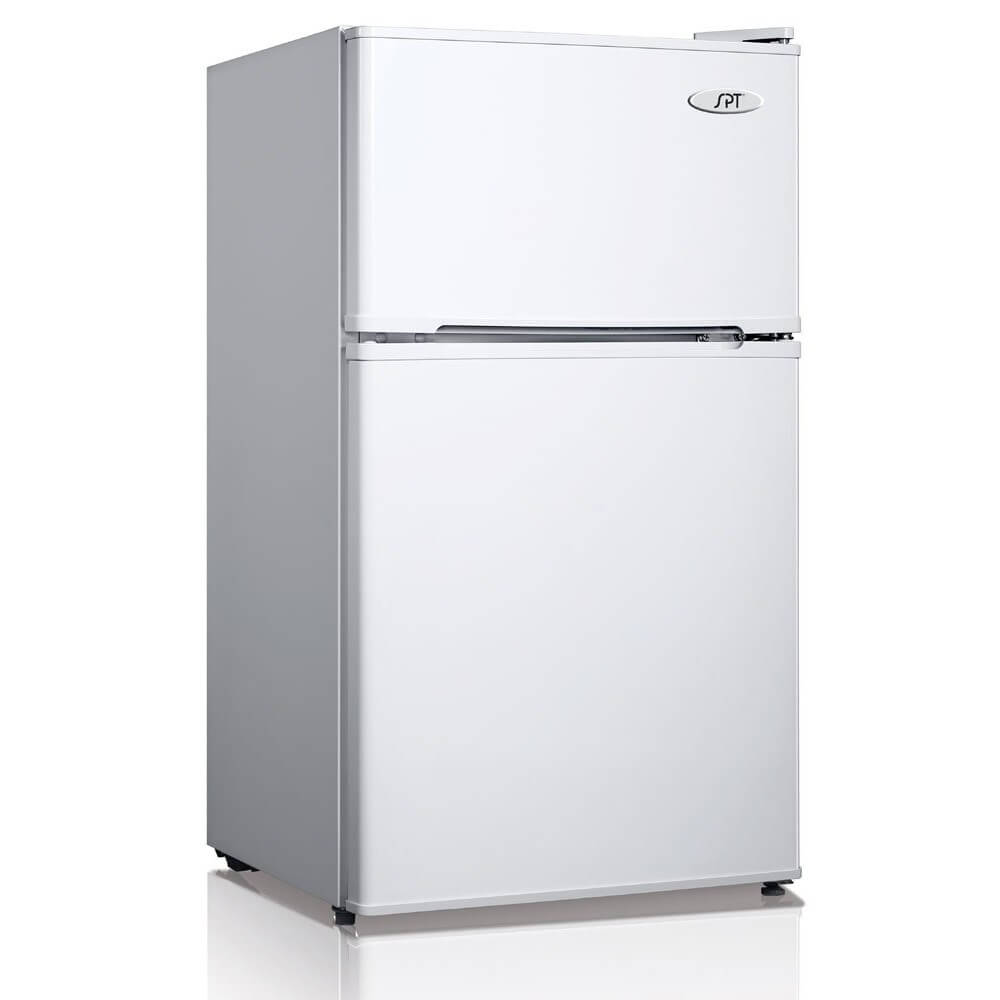 Sunpentown 3.1 cu. ft Double Door Refrigerator in White with Energy Star (Model: RF-314W)