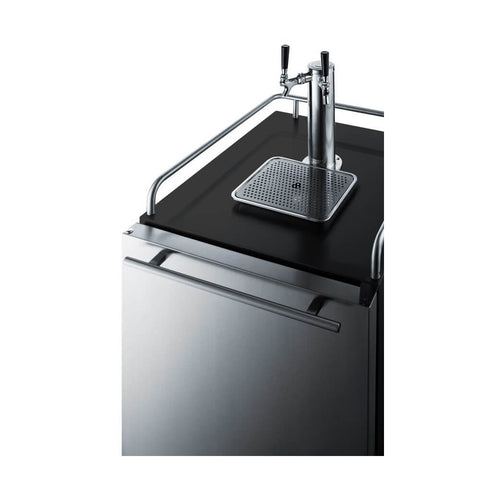 Image of Summit 24-Inch 6.5 Cu. Ft. Double Tap Built-In Beer Kegerator (Model: SBC677BIIFTWIN)