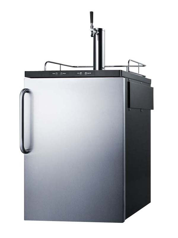 Summit Built-In Single Tap Stainless Steel Beer Kegerator (Model: SBC635MBISSTB)