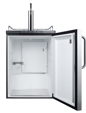 Image of Summit Built-In Single Tap Stainless Steel Beer Kegerator (Model: SBC635MBISSTB)