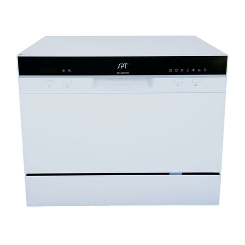 Image of Sunpentown 120V White 7 Wash Cycles Countertop Dishwasher with Delay Start & LED (SD-2224DW)