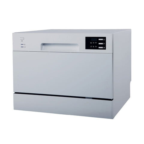 Sunpentown Energy Star 120V Silver 6 Wash Cycles Countertop Dishwasher with Delay Start & LED (SD-2225DS)