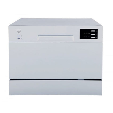 Image of Sunpentown Energy Star 120V Silver 6 Wash Cycles Countertop Dishwasher with Delay Start & LED (SD-2225DS)