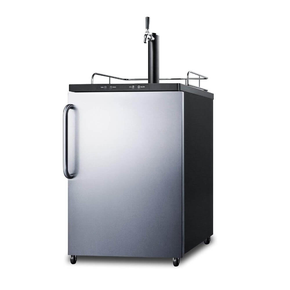 Summit 24 - Inch 5.6 cu.ft. Mobile Stainless Steel Single Tap Beer Dispenser (Model: SBC635MSSTB)