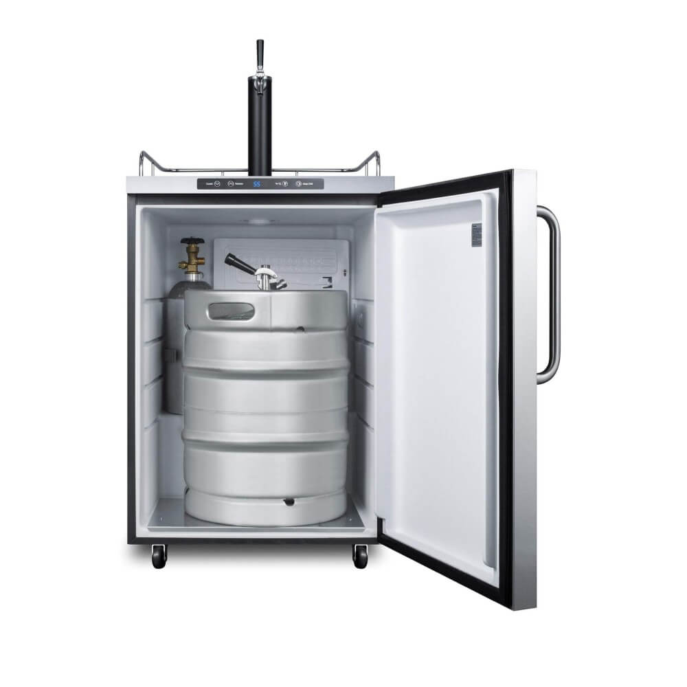 Summit 24 - Inch 5.6 cu. ft Stainless Steel Commercial Outdoor Single Tap Beer Kegerator (Model: SBC635MOS)