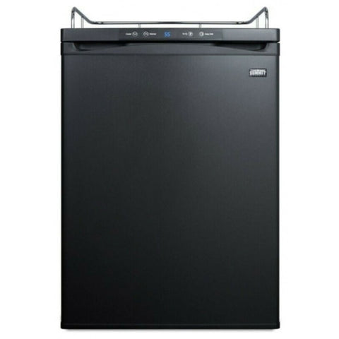 Image of Summit 24 - Inch 5.6 Cu. Ft. Black Built - In Beer Dispenser - No Tap Kit (Model: SBC635MBINK)