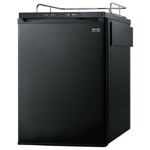 Summit 24 - Inch 5.6 Cu. Ft. Black Built - In Beer Dispenser - No Tap Kit (Model: SBC635MBINK)