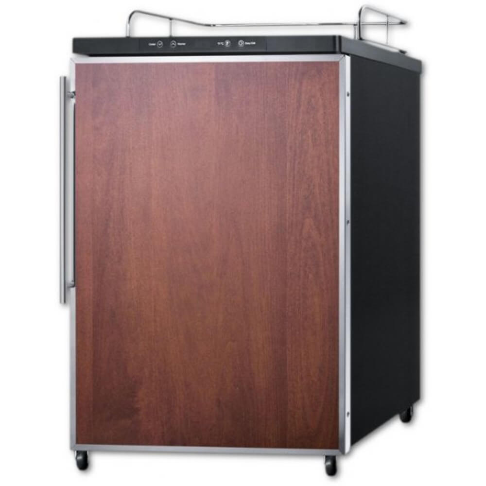 Summit 24 - Inch 5.6 Cu. Ft. Built - in Panel-Ready Door Beer Dispenser - No Tap Kit (Model: SBC635MBINKFR)