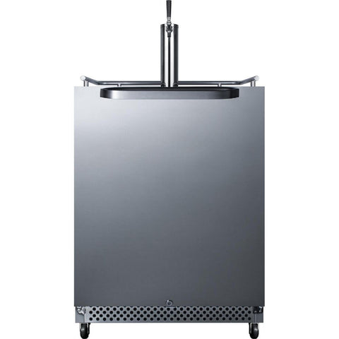 Image of Summit 24-Inch 6.04 Cu. Ft. Commercial Stainless Steel Outdoor Single Tap Wine Dispenser (Model: SBC695OSWKD)