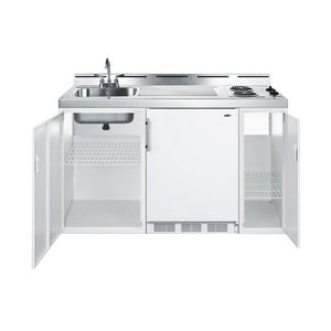 "Summit 60""W All-In-One Kitchenette with 2-Burner Cooktop, Refrigerator-Freezer and Sink (Model: C60EL)"