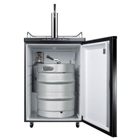 Summit 24 - Inch 5.6 Cu. Ft. Commercial Built - in Black Single Tap Beer Dispenser (Model: SBC635MBI7)