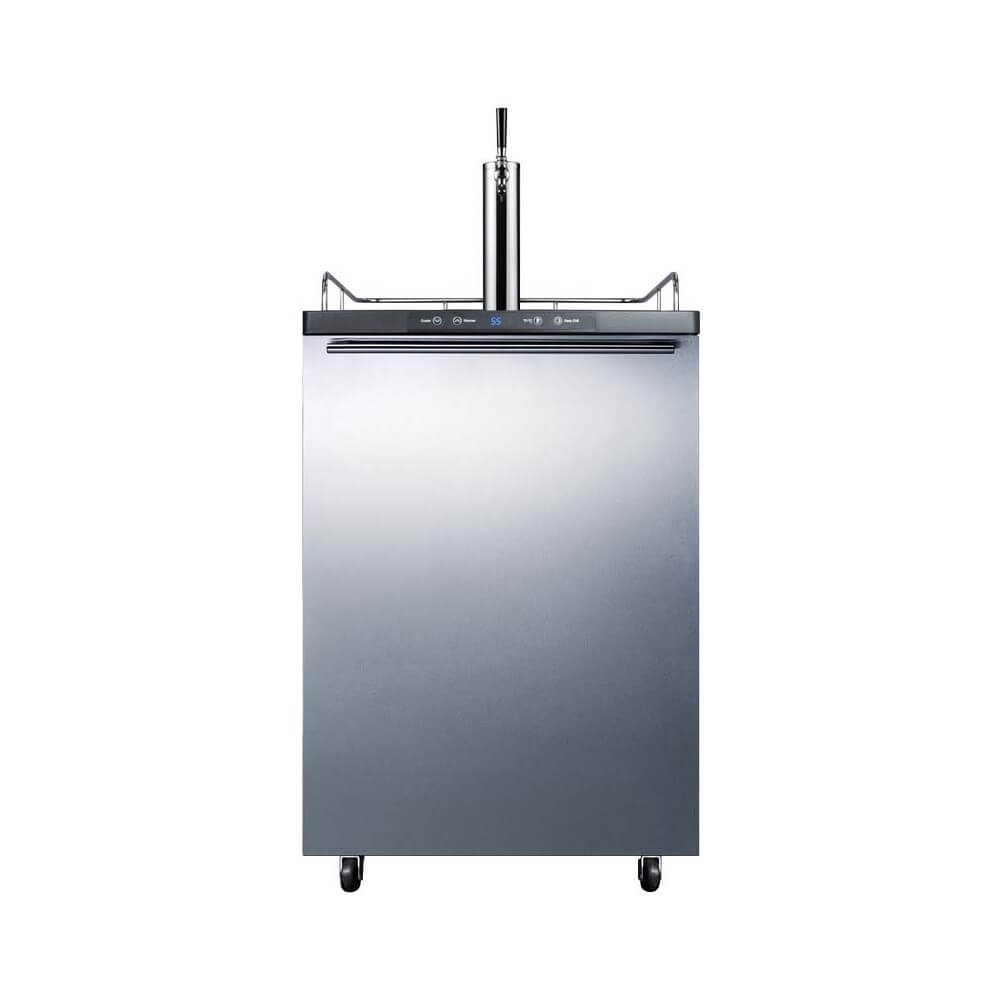Summit 24 - Inch 5.6 Cu. Ft. Built - in Commercial Stainless Steel Single Tap Beer Dispenser (Model: SBC635MBI7SSHH)