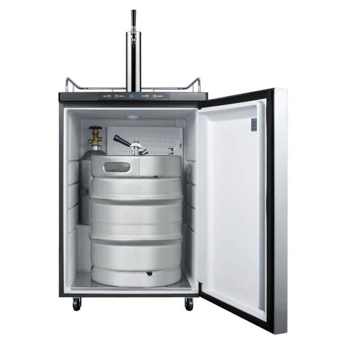 Image of Summit 24 - Inch 5.6 Cu. Ft. Built - in Commercial Stainless Steel Single Tap Beer Dispenser (Model: SBC635MBI7SSHH)