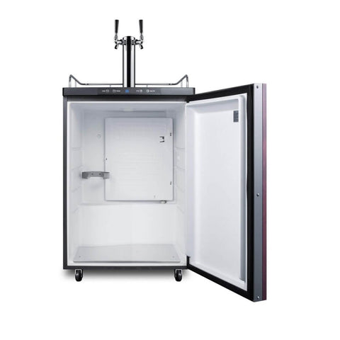 Image of Summit 24 - Inch 5.6 Cu. Ft. Built - in Panel-Ready Door Double Tap Beer Dispenser (Model: SBC635MBIIFTWIN)