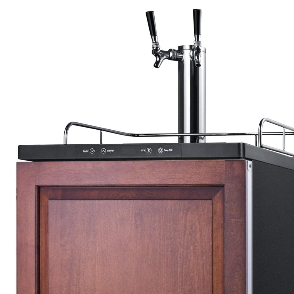 Summit 24 - Inch 5.6 Cu. Ft. Built - in Panel-Ready Door Double Tap Beer Dispenser (Model: SBC635MBIIFTWIN)