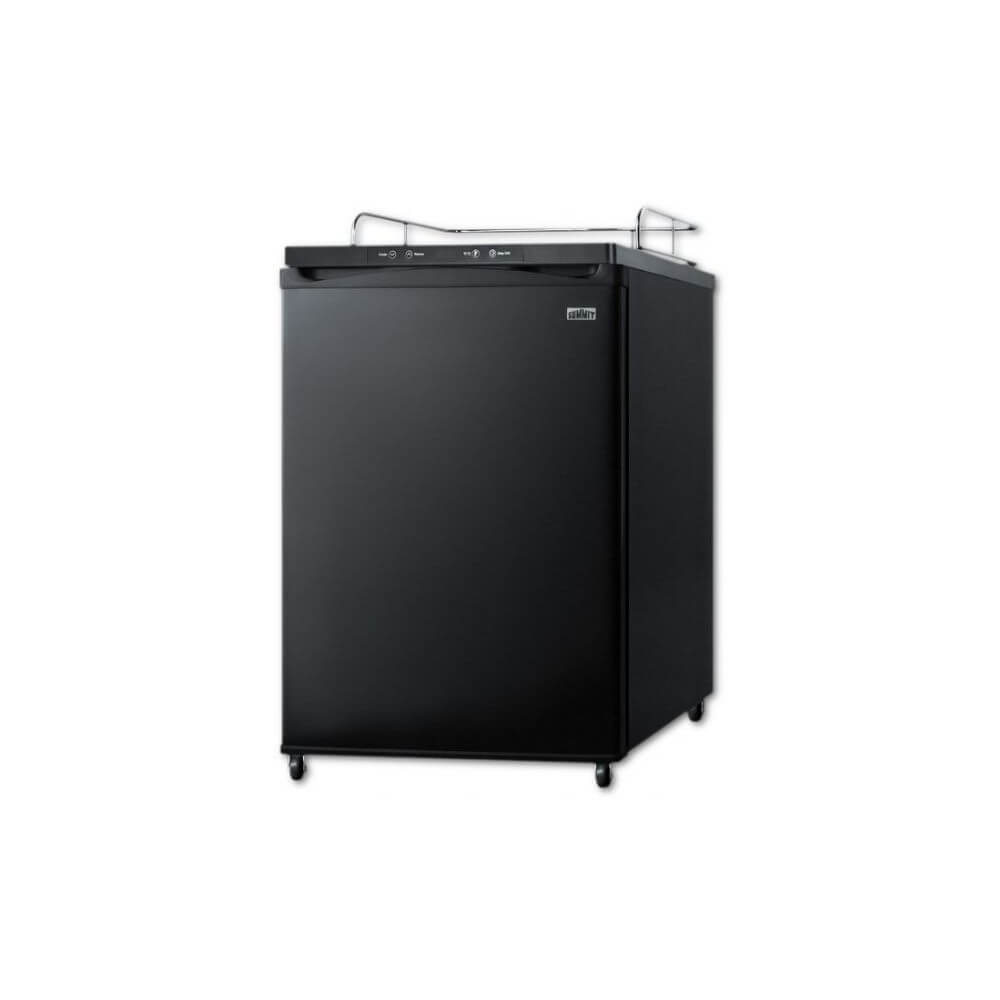 Summit 24 - Inch 5.6 Cu. Ft. Commercial Black Beer Dispenser - No Tap Kit (Model: SBC635MBI7NK)