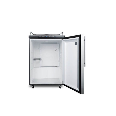 Image of Summit 24 - Inch 5.6 Cu. Ft. Mobile Commercial Stainless Steel Beer Dispenser - No Tap Kit (Model: SBC635M7NKSSHH)