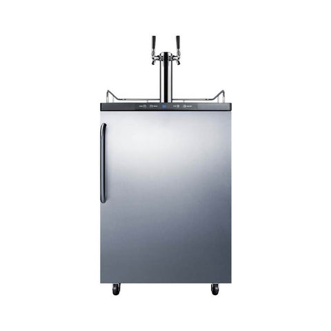 Image of Summit 24 - Inch 5.6 Cu. Ft. Portable Stainless Steel Commercial Double Tap Beer Dispenser (Model: SBC635M7SSTBTWIN)