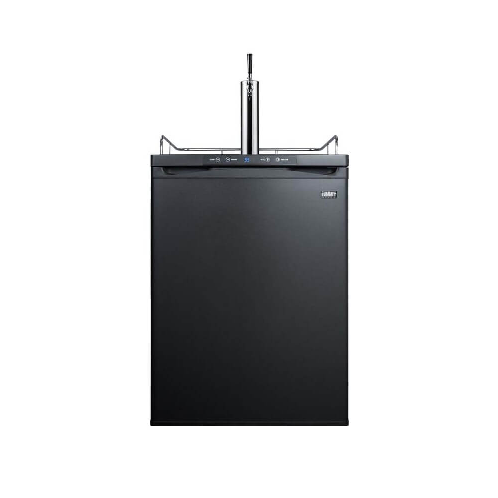 Summit 24 - Inch 5.6 Cu. Ft. Residential Under Counter Black Single Tap Beer Dispenser (Model: SBC635MBI)