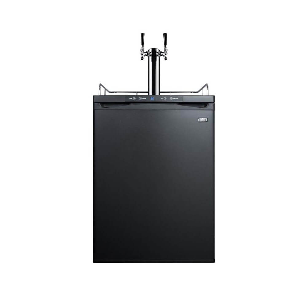 Summit 24 - Inch 5.6 Cu. Ft. Built - in Black Double Tap Beer Dispenser (Model: SBC635MBITWIN)
