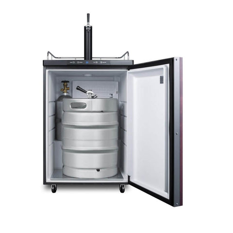 Image of Summit 24 - Inch 5.6 Cu. Ft. Built - in Panel-Ready Door Single Tap Beer Dispenser (Model: SBC635MBIIF)