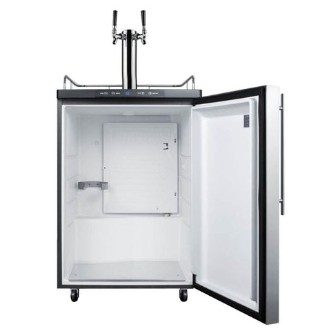 Image of Summit 24 - Inch 5.6 Cu. Ft. Built - in Stainless Steel Double Tap Beer Kegerator (Model: SBC635MBISSHVTWIN)