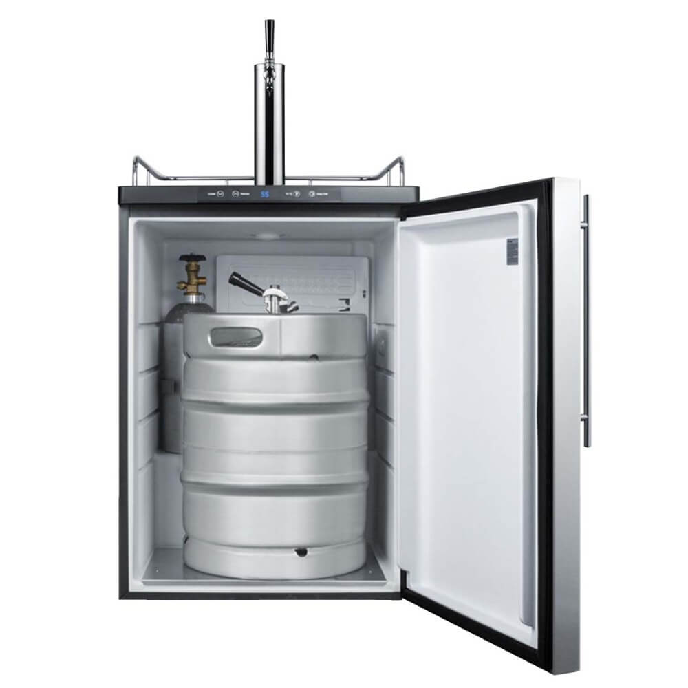 Summit 24 - Inch 5.6 Cu. Ft. Built - in Stainless Steel Single Tap Beer Kegerator (Model: SBC635MBISSHV)