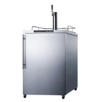 Summit 24 - Inch 5.6 Cu. Ft. Commercial Freestanding Outdoor Single Tap Beer Kegerator (Model: SBC635MOS7HV)
