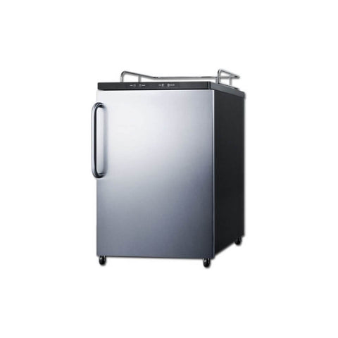 Image of Summit 24 - Inch 5.6 Cu. Ft. Freestanding Stainless Steel Beer Kegerator - No Tap Kit (Model: SBC635MNKSSHV)